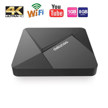 Dolamee D5 Android TV Box RAM 1GB 8GB RK3229 Quad Core Cortex A7 1.5GHz WIFI Ultra HD IPTV HDMI Smart TV Media Player