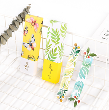 30 Pcs/box Classical China style bookmark vase butterfly paper bookmarks lomo cards children stationery school supplie kids gift