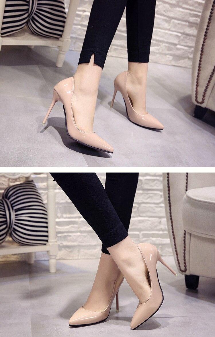 2018 CHAUDE Femmes Chaussures Bout Pointu Pompes En Cuir 22