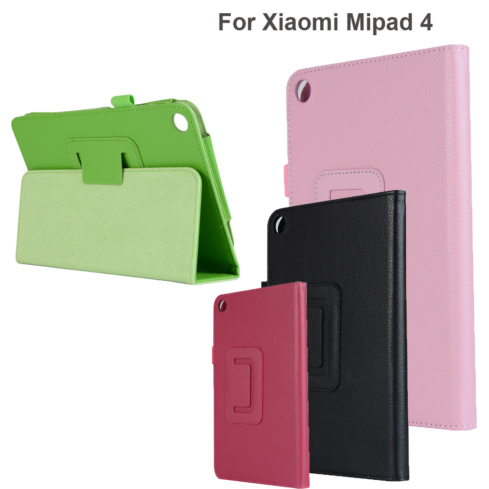 Hard Case For Xiaomi Mi Pad 4 8.0 Inch Smart Slim Retro Fold Stand Shell PU Leather Cover For Xiaomi MiPad 4 Case Tablet Holder