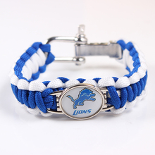 Screw Adjustable Paracord Bracelet Detroit Lions NFL Football Charm Bracelet Outdoor Camping Survival Bracelet Dropshipping