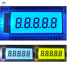 Semitransparent EDS820 5 Digit TN Segment LCD Display Screen Module Metal Pin Connection 5V 50.8*30.48*2.8mm 45.8*17.8mm