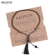 KELITCH Jewelry Top Quality Cheap Price 1Pcs Black Seed Beads Bracelets For Women Girls Gifts Jewelry Adjustable Charm Bracelet(China)