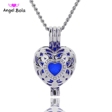 Angel Bola Jewelry Yoga Aromatherapy Essential Oils Surgical Perfume Diffuser Locket Necklace Drop Shipping L152