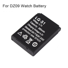 For DZ09 380mAh Rechargeable Battery For Smart Watch dz-09 dz09 Bluetooth Smart Watch Replacement Battery Dropshipping(China)