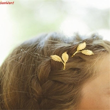 Best Price Women Leaf Feather Hair Clip Hairpin Barrette Bobby Pins Hair Accessories