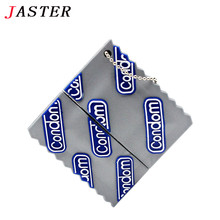 JASTER Fashion model condom style usb flash drive Condoms Pendrive 4GB 8GB 16GB 32GB memory stick pendrives funny Gifts for boy