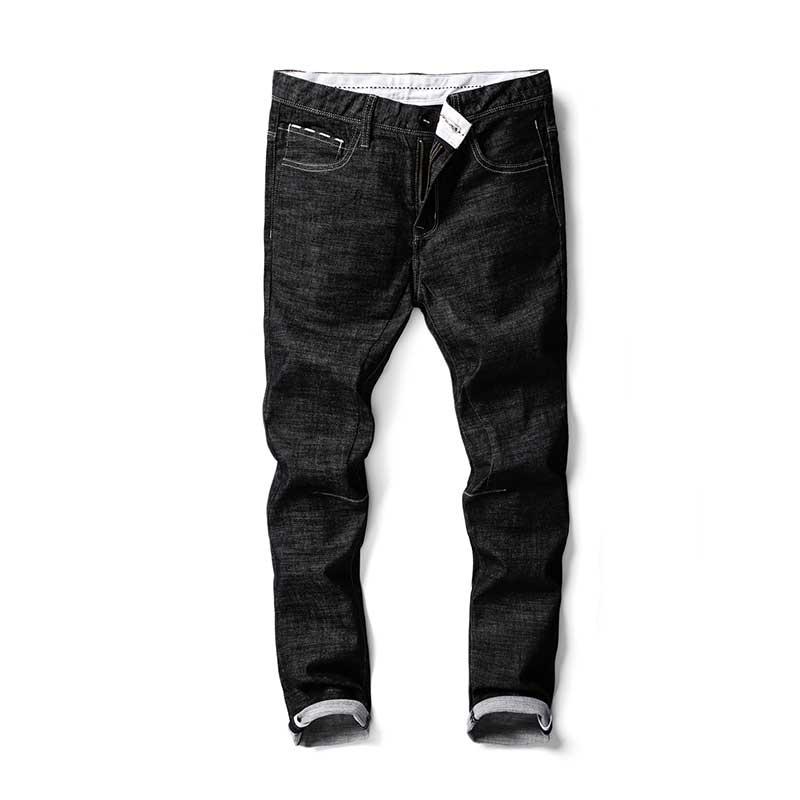 High Quality Mens Solid Black Jeans Cotton Denim Slim Pencil Pants Cool Designer for Men Autumn Winter 2017Îäåæäà è àêñåññóàðû<br><br>