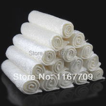 (50Pcs/Lot) Free Shipping! Bamboo Towel ,100% Bamboo Fiber,Clean Kitchen Hand Towels Bulk 18*16cm White Color(China)