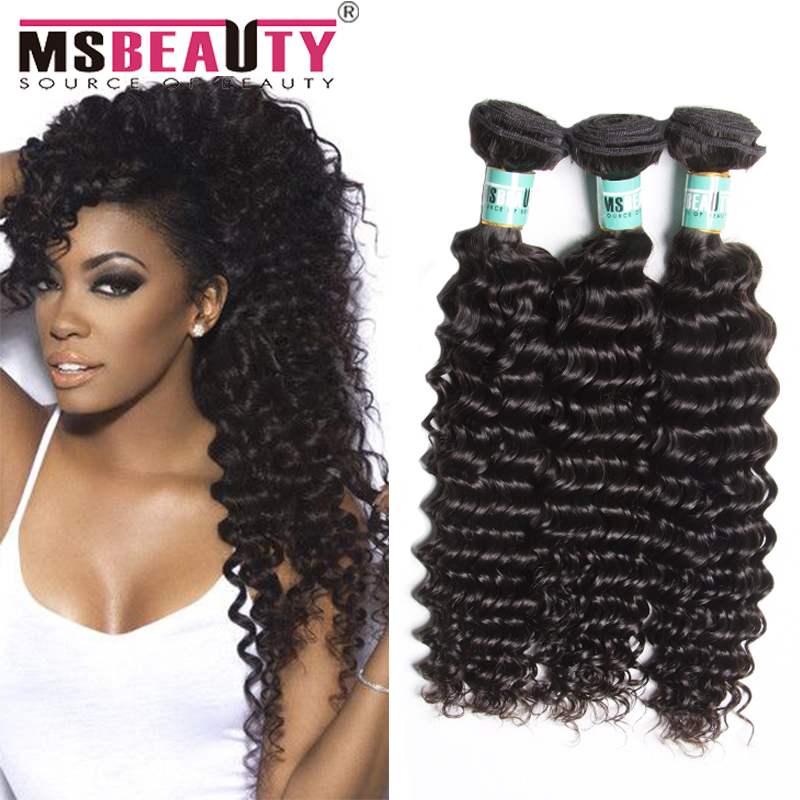8A Malaysian Deep Wave Hair Unprocessed Malaysian Hair 3 Bundles Msbeauty Human Hair Extensions Malaysian Virgin Hair Deep Wave<br><br>Aliexpress
