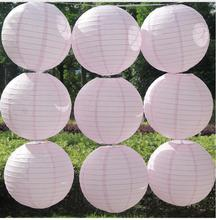 2017 Light pink(10cm-35cm) wedding decorations paper lantern Events party supplier baby shower Chinese paper ball(China)