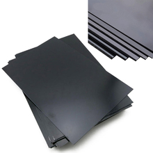 1Pc Durable ABS Styrene Plastic Plate Sheet Plastic Flat Sheet 1mm x 200mm x 300mm Black
