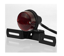 High quality Motorcycle electric Motorcycle rear lights/Motorcycle Tail Brake Light Black License Plate Holder