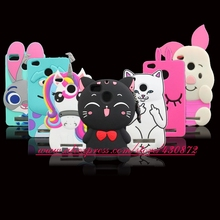 For Xiaomi Redmi 4A 3D Silicon Stitch Pocket Cat Cupcake Unicorn Cartoon Soft Cell Phone Case Cover for Xiaomi redmi 4A Redmi4A
