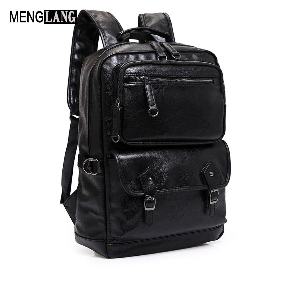 Supreme Men Backpack College Waterproof Business Laptop Genuine Leather Backpacks For Men Casual Shoulders Bag<br>