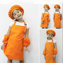 1PC Cute Kids Child Children Apron Cooking Baking Apron Pink Children's Aprons Free Shipping