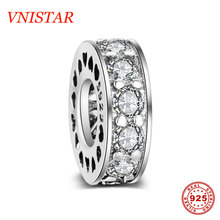 Buy VNISTAR 21 Styles 100% S925 Sterling Silver Spacer Beads Jewellery Making Bead Charms Heart Star CZ Pave Beads Wholesale for $3.00 in AliExpress store