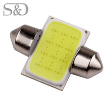 31mm 12 Chips COB Led Lamp Festoon Dome Auto c5w led car bulbs interior Lights Car Light Source parking 12V Pure White D020