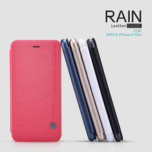 5 Colors Available NILLKIN High End Luxury Flip Leather Case for iPhone 6 Plus Rain Series Phone Case