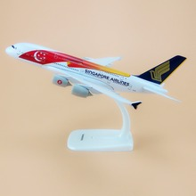 Alloy Metal Red Air SINGAPORE Airlines Flag A380 Airplane Model SINGAPORE Airbus 380 Airways Plane Model Aircraft Gifts 20cm(China)