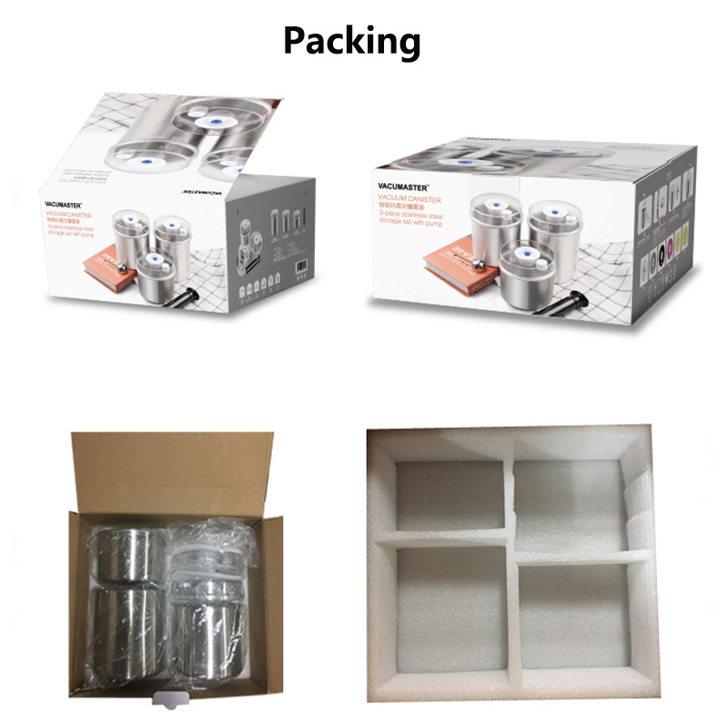 full set container of vacuum sealer packing
