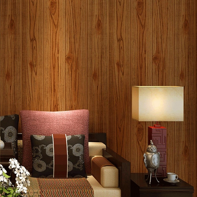 Free Shipping Chinese Style Retro Wooden Wallpaper Living Room Restaurant Wallpaper Ceiling Wooden kitchen Wallpaper<br>