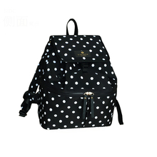 Materity Backpack Diaper Bag for Mom Black White Dot Fashion Multifunctional Capacity Women Mummy Bag Travel Mother Backpack