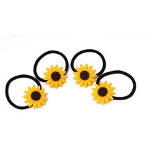 3Pcs Seconds Sale Plastics Sunflower Headbands Hairbands for Women Yellow Sunflower Black Elastic Headband Hairband Headwrap