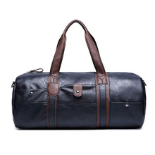 Big Travel Bag Large Capacity Men Hand Luggage Packs Leather Purse Business Weekend Duffle Shoulder Messenger Blue Black Handbag