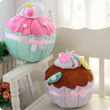 Cute Soft Short Plush Sweet Macaron Seat Pillow Cushion Warm Chocolate Strawberry Toys Cushion Creative Birthday Gift for Girls(China)