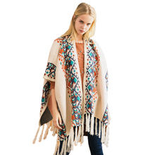 Knitted Sweater Ponchos And Capes Cardigan Womens Winter Slit Tassel Boho Chic Vintage Gypsy Ethnic Pattern Kimono Shawls Scarf(China)
