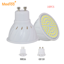 10PCS LED Lamp GU10 MR16 Lampada LED Spotlight 8W 6W 4W AC 220V SMD 2835 Ampoule LED Bulb Spot Light Bombillas Cold Warm White