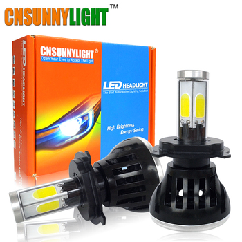 CNSUNNYLIGHT COB LED Car Kit de Faros H4 H7 H8 H11 9005 H13 HB3 HB4 9006 40 W 4000LM Auto Luz de Niebla Del Faro de Reemplazo bombillas