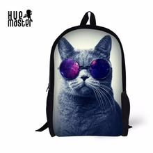 Backpack Sunglass Cat Cute Squirrel FerociousTiger Fluffy Kitty 3D Print Shoulder Cross 17 Inch Casual Travel Bag for Children(China)