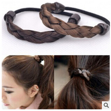TS226 2017 new fashion Hot simple non-mainstream wig hair rope headband Elastic hair band Jewelry