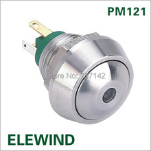ELEWIND 12mm Dot illuminated push button switch (PM121B-10D/J/G/2.8V/S)