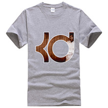 kevin durant Men T Shirts 2016 Brand T Shirts Grey Color KD Tee Shirt Homme Summer Women Fashion Streetwear Cotton Tops