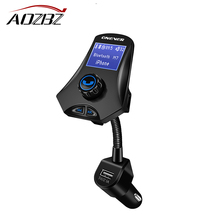 AOZBZ M7 Car Kit Music Player FM Transmitter 3.1A 3-USB Modulator Rotatable Bluetooth Car Charger Support U Disk/TF Card CE(China)