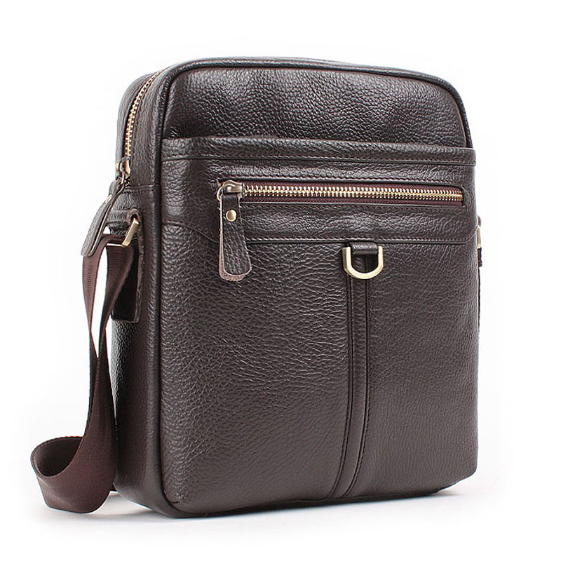 100% guarantee genuine leather big messenger bags for men cowhide large crossbody travel single shoulder bag male handbags<br>