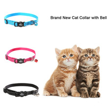 Three Color High-Quality Pet Collar Pet Traction Rope Cat and Other Small pet Lead Leash with Bell Reflective Material(China)