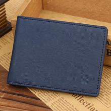 Men Leather Bifold Cards Holder Slim Wallet Money Purse Billfold 2016 men wallets cartera hombre con monedero shop(China)