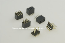 "10 pcs 0.050"" 2x4 P 8 Pin 1.27 mm Male / Female SMT / Female DIP PCB Header Dual row Straight PCB SMT Pin Headers"
