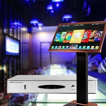 HD-HYNUDAL Home KTV HD Karaoke Player 4TB HDD Chinese Sing Machine with 80K Songs+Touch Screen+2 Wireless Microphone
