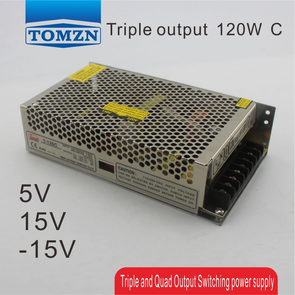 T 120W C Triple output 5V 15V -15V Switching power supply smps AC to DC<br>
