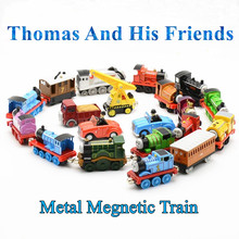 New 1 Piece Thomas and Friends Train Diecast Metal Megnetic Train Toy Tank Engine Track Education Toys For Children Kids Gift(China)