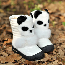2017 children boots High-end plush bear fur thick kids snow boots fashion girls boots True cartoon kids shoes