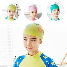 Fashion swimming new children's The cap Kid environmental waterproof comfortable popular fashion creative swimming cap cover(China)