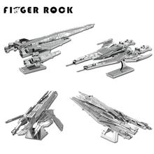Finger Rock Mass Effect 3D Metal Puzzle SR2 Normandy Model Building Kits Children Assembly DIY Education Toys Jigsaw