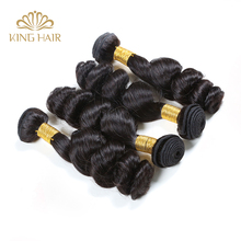8A Unprocessed Loose Wave Russian Virgin Hair 4 Pieces/Lot Top King Hair Extensions Machine Double Weft  Burmese Hair