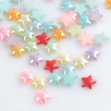 HOT 200PCS 10mm Random mixed Star flatback Resin Cabochons Scrapbook Craft DIY buttons YKL0427